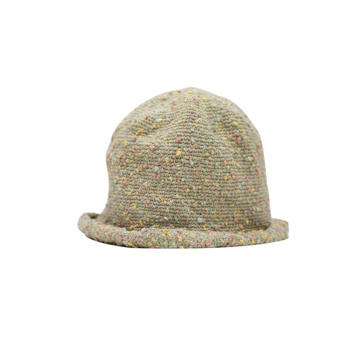 (複製)藍魚工坊│手編棉繩帽(咖啡)