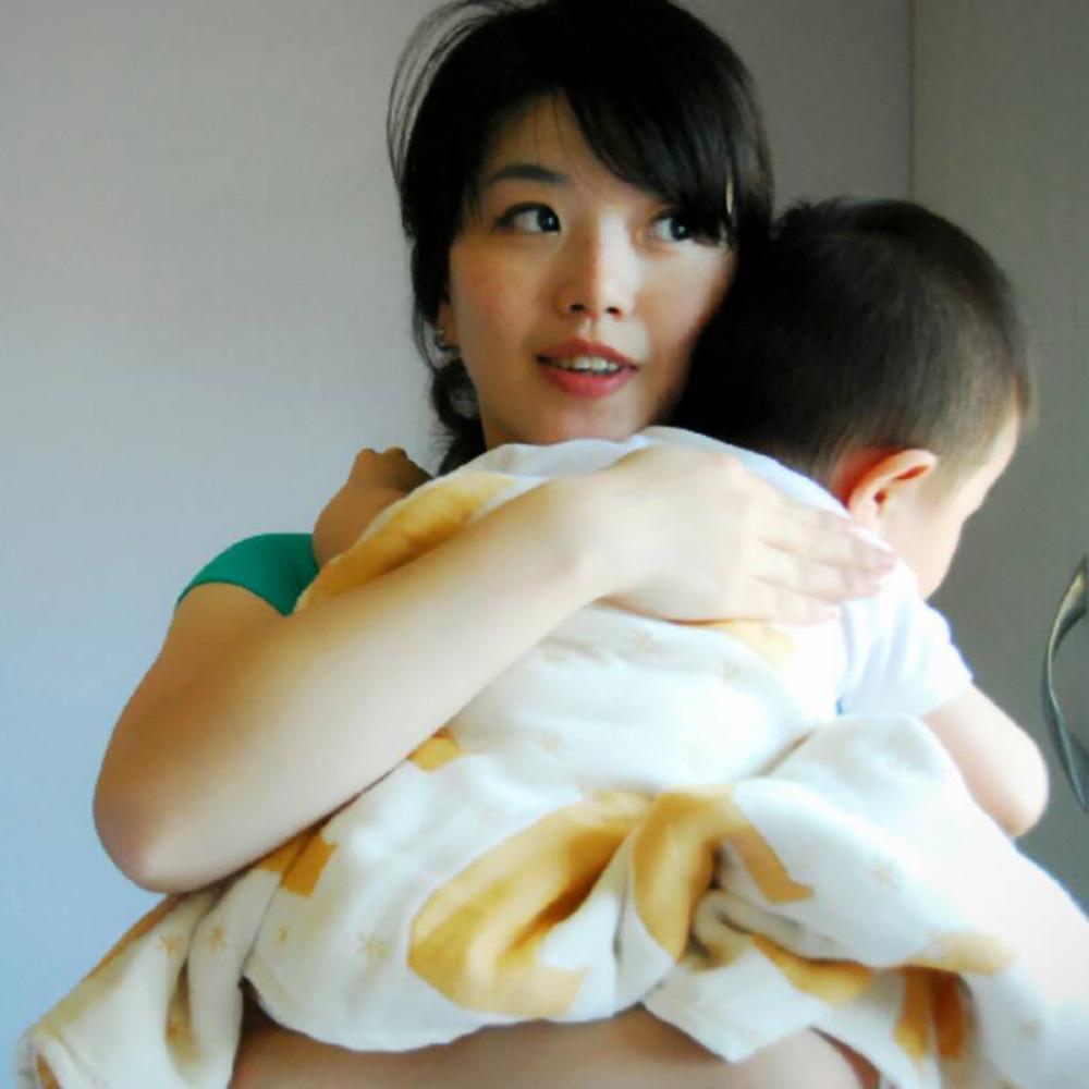 Yimono|六層紗呼吸被 - 南瓜北極熊 (厚款/ M)
