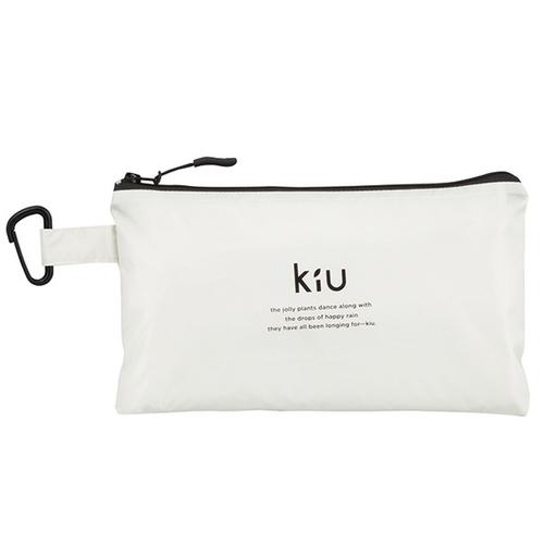 KiU|白色 空氣感雨衣- 附收納袋(男女適用)
