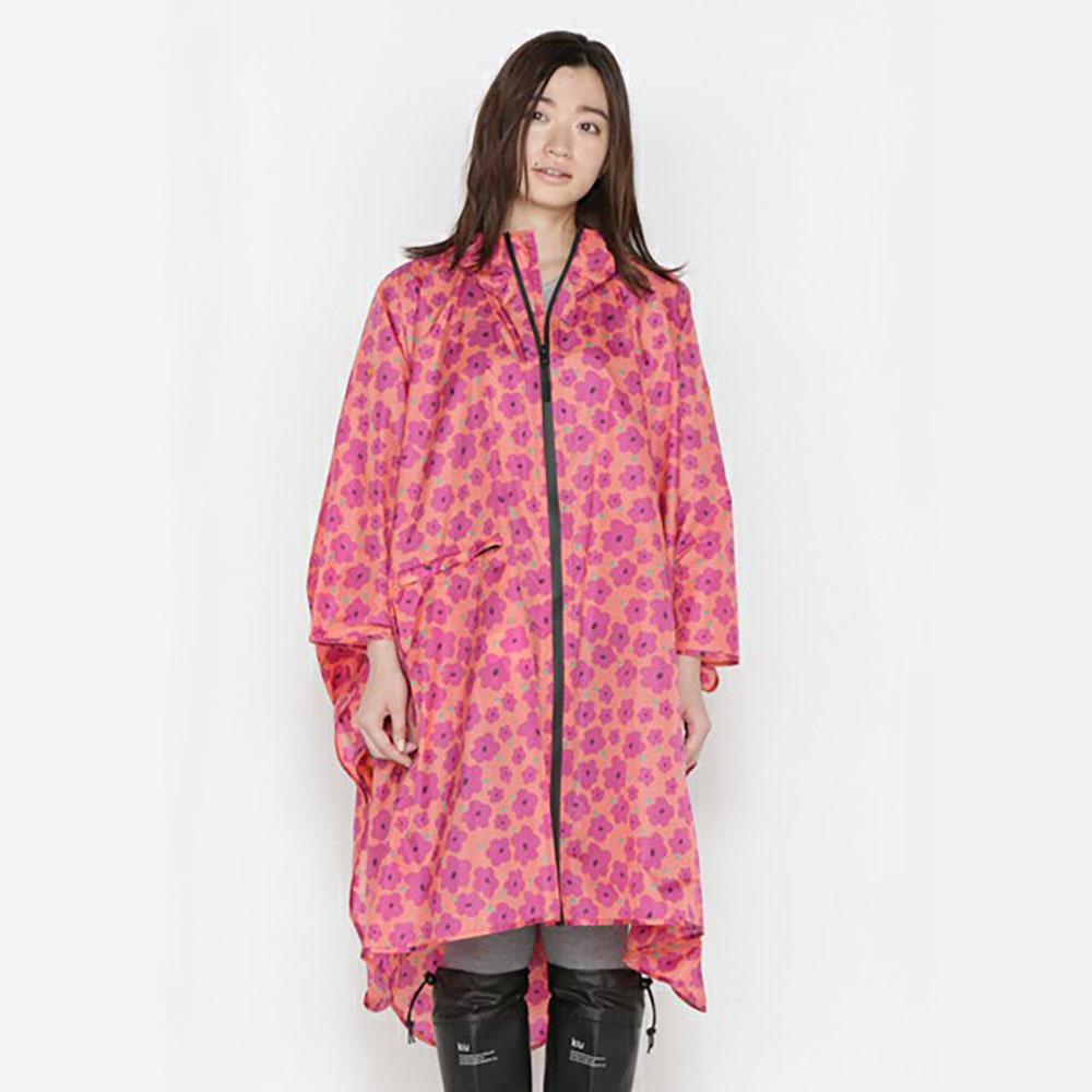 KiU  空氣感雨衣- 附收納袋  粉紅哈娜