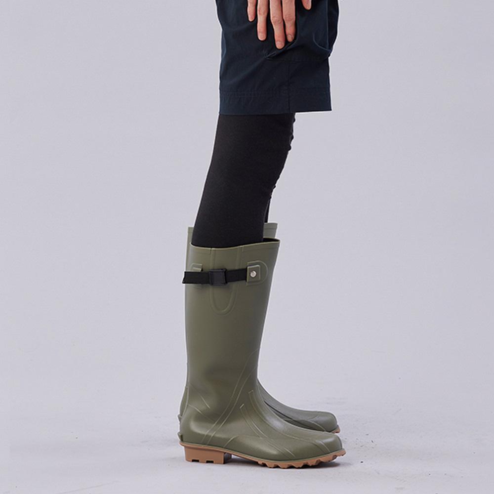 KiU| 修飾腿型雨鞋- 男女適用  軍綠色