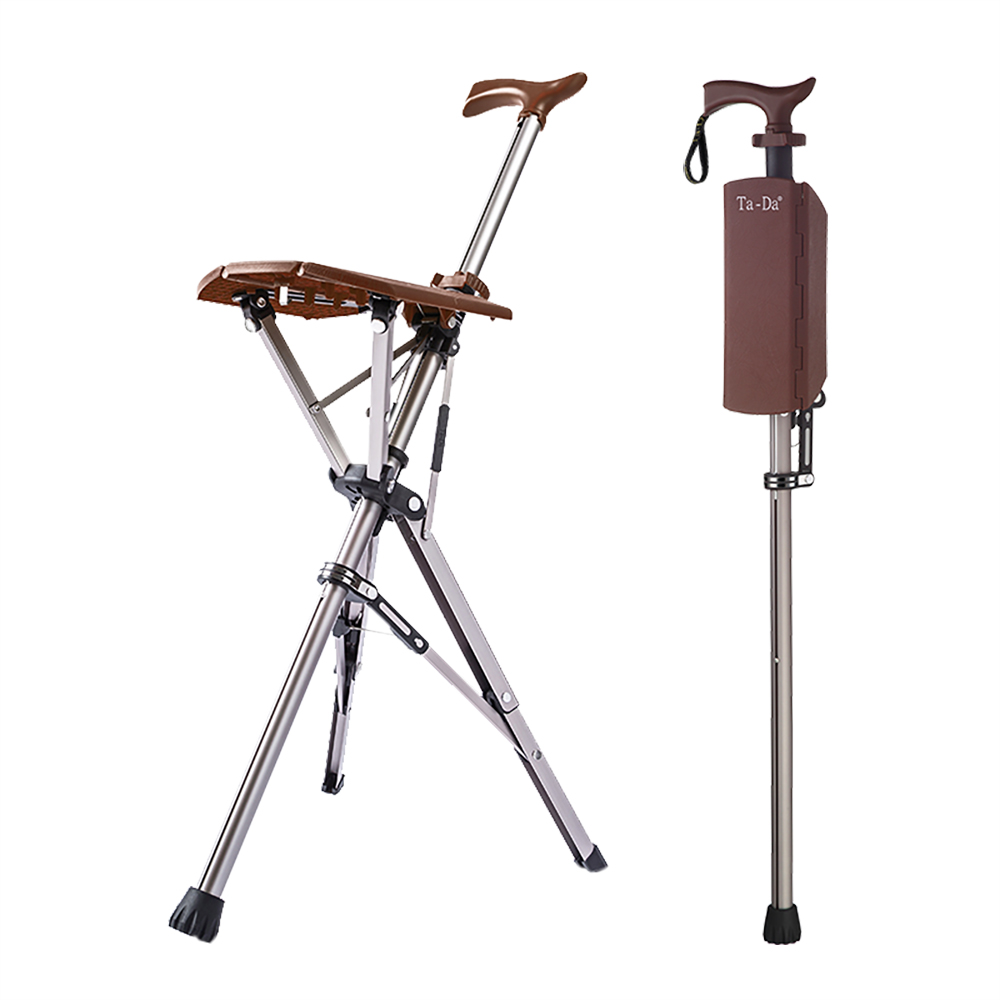 Ta-Da 泰達自動手杖椅(咖啡棕)