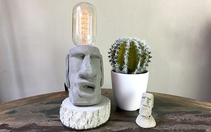 (複製)曙MUSE   水泥老實摩艾桌燈