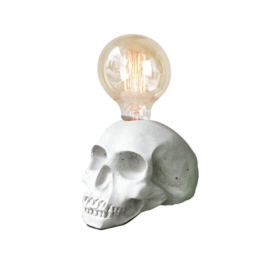 曙MUSE   個性白骷髏頭桌燈