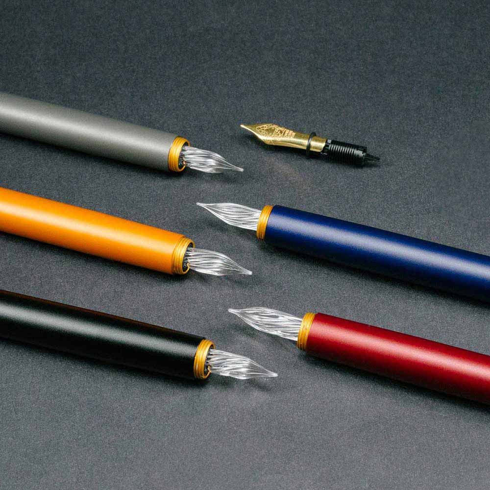 森作所|零式玻璃尖鋼筆(灰色)