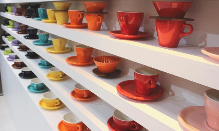 日本ORIGAMI|摺紙咖啡陶瓷杯組 拿鐵杯 250ml (紅色)