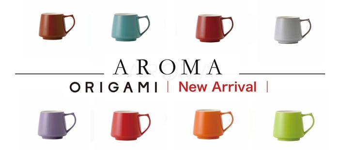 (複製)日本Origami barrel aroma 摺紙咖啡馬克杯復古系列3色(320ml)