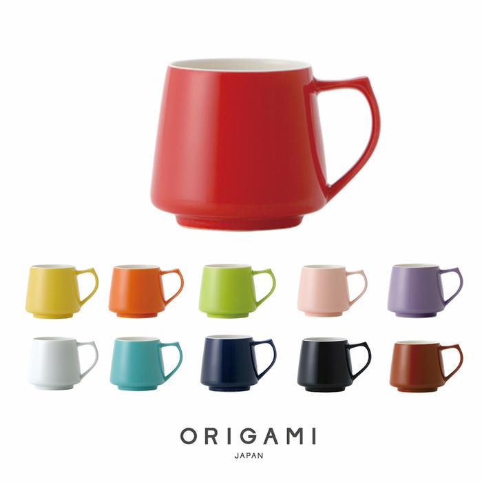日本ORIGAMI Aroma 摺紙咖啡馬克杯盤組(純色-11色可選)