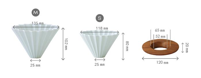 日本 ORIGAMI 摺紙咖啡陶瓷濾杯單杯 M 第二代 (11色) (不含木質杯座)