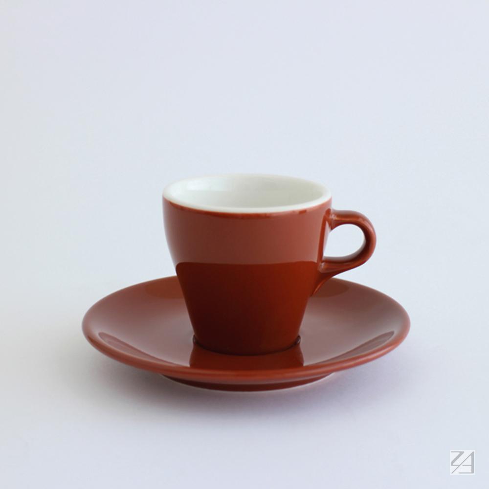 日本ORIGAMI|摺紙咖啡陶瓷杯組 卡布杯 180ml (咖啡色)