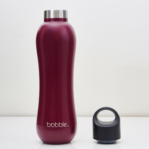 美國 bobble insulate 曲線雙層保溫瓶 442ml(酒紅紫)