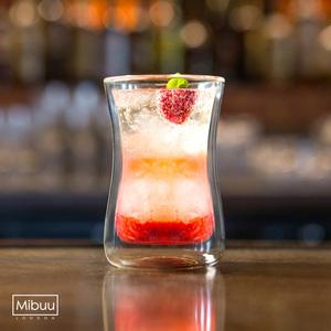 英國Mibuu 手工雙層玻璃杯(小迷布100ml 4入)
