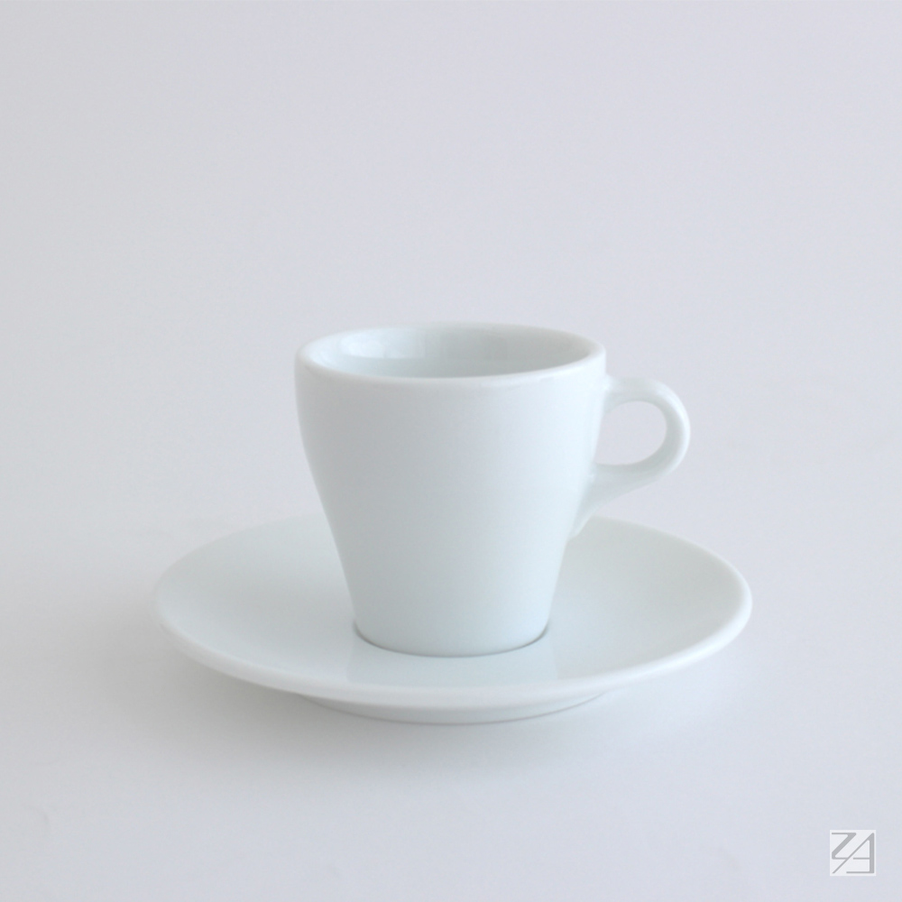 日本ORIGAMI|摺紙咖啡陶瓷杯組 卡布杯 180ml (純白色)