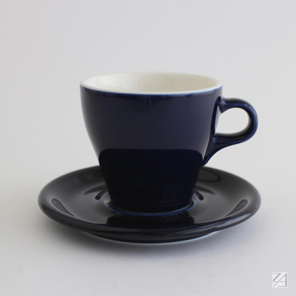 日本ORIGAMI|摺紙咖啡陶瓷杯組 拿鐵杯 250ml (湛藍色)