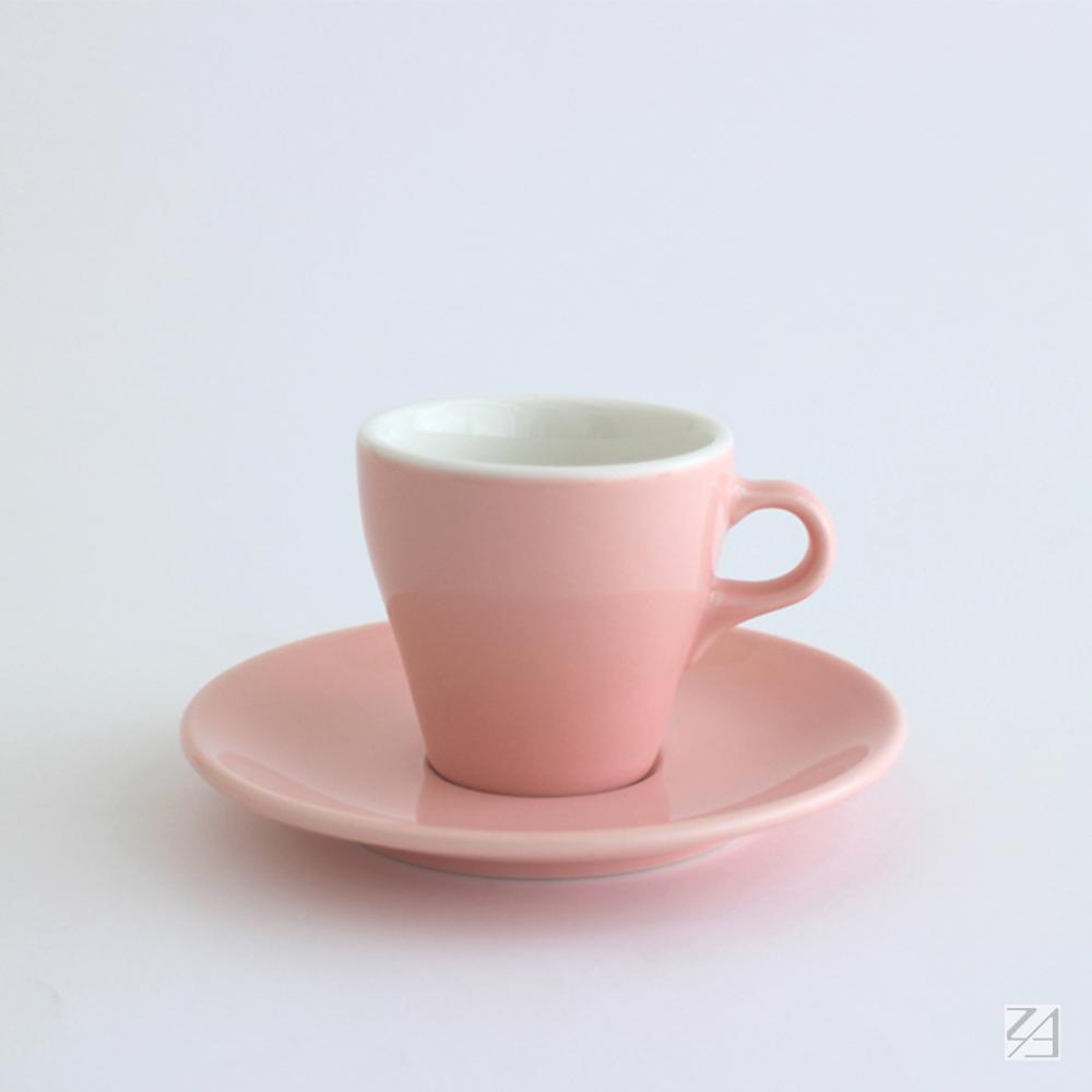 日本ORIGAMI|摺紙咖啡陶瓷杯組 卡布杯 180ml (粉紅色)