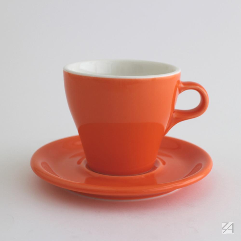 日本ORIGAMI|摺紙咖啡陶瓷杯組 拿鐵杯   250ml (柑橘色)