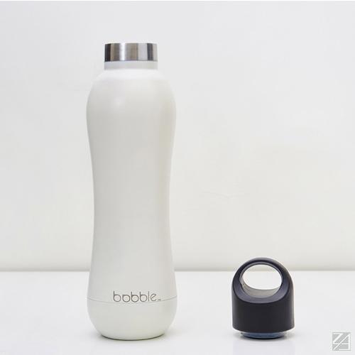 美國 bobble insulate 曲線雙層保溫瓶 442ml(極地白)