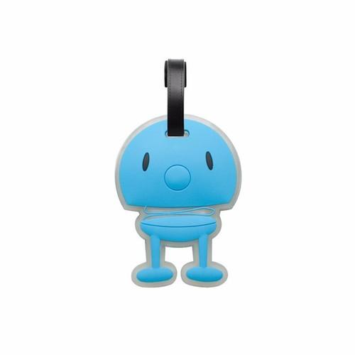 丹麥 Hoptimist|微笑彈簧小人 Bag Tag 微笑包包掛飾(水藍)
