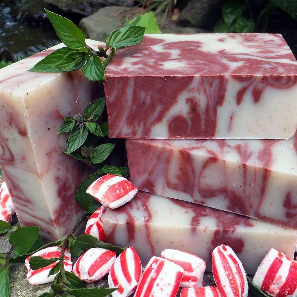 美國Chagrin Valley|天然薄荷大理石沁涼植物手工皂 5.8 OZ