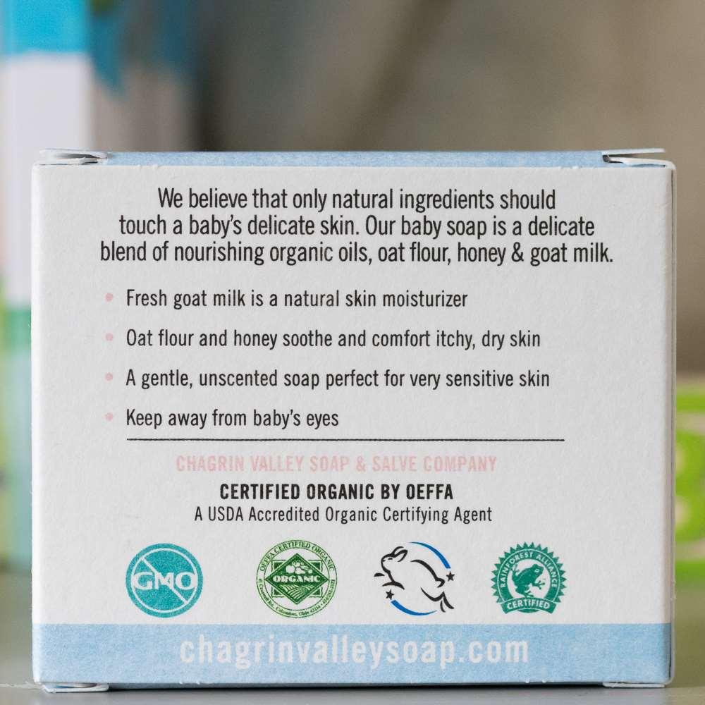 美國Chagrin Valley|寶寶專用天然有機蜂蜜山羊奶手工皂 3.5 OZ