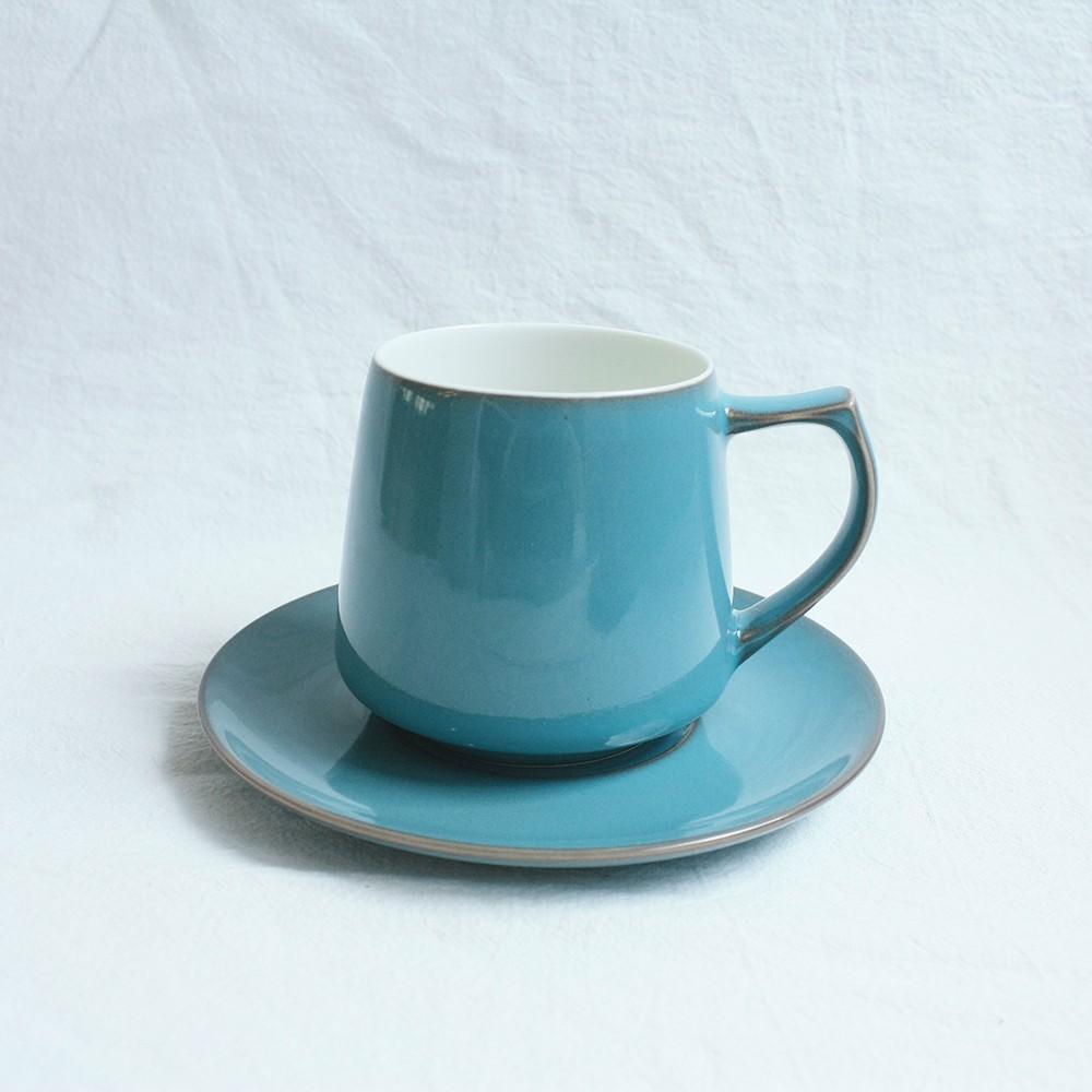 日本ORIGAMI|Aroma 摺紙咖啡馬克杯盤組(復古-濱河藍)