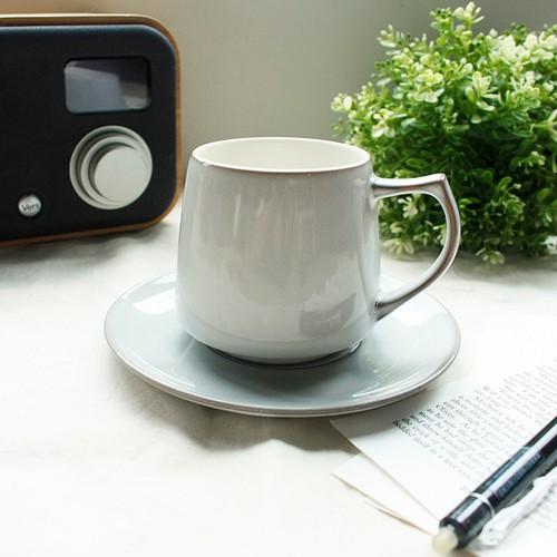 日本ORIGAMI|Aroma 摺紙咖啡馬克杯盤組(復古-冰川灰)
