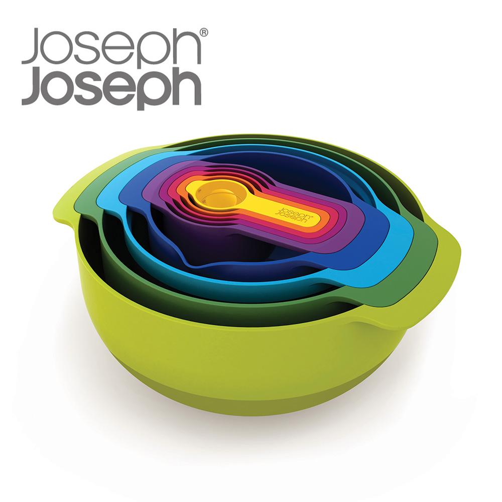Joseph Joseph|英國創意餐廚 量杯打蛋盆9件組
