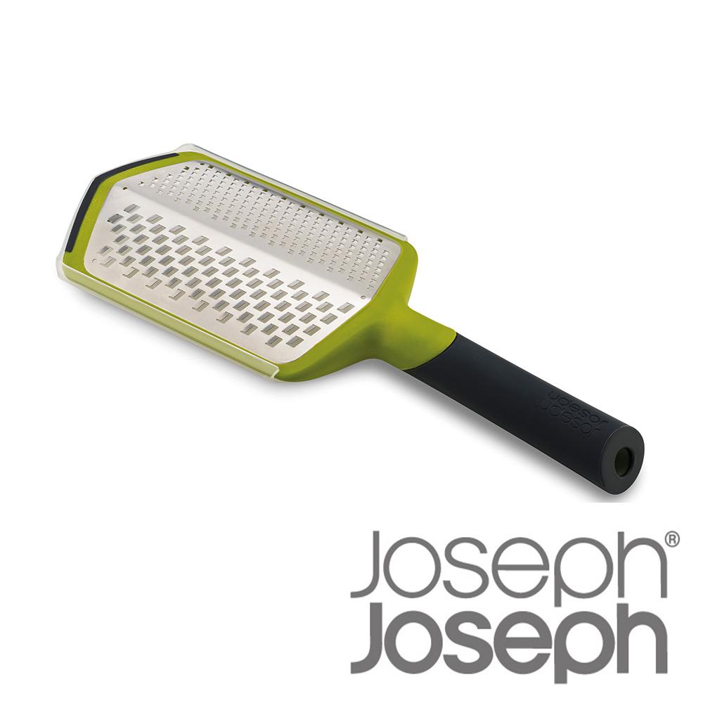 Joseph Joseph 英國創意餐廚 可調式粗細刨絲器-綠(附兩用收納盒)