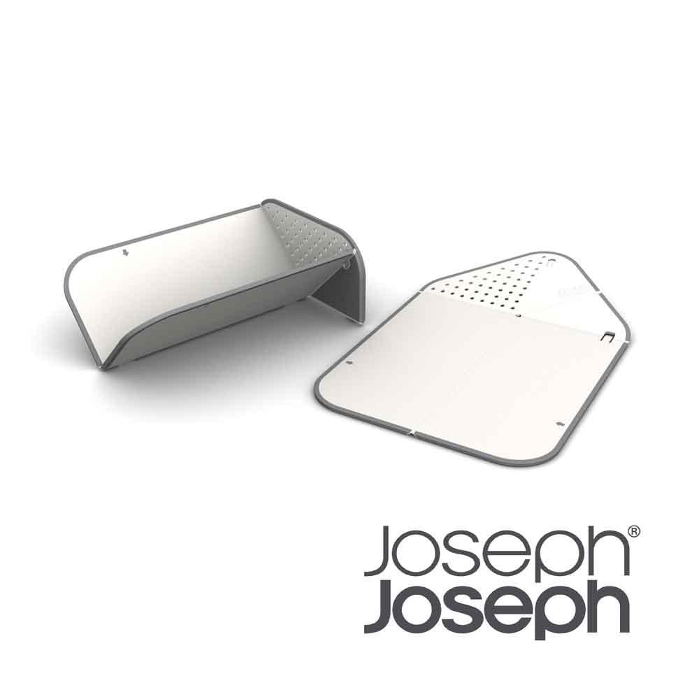Joseph Joseph|英國創意餐廚 洗滌過濾兩用砧板(白)