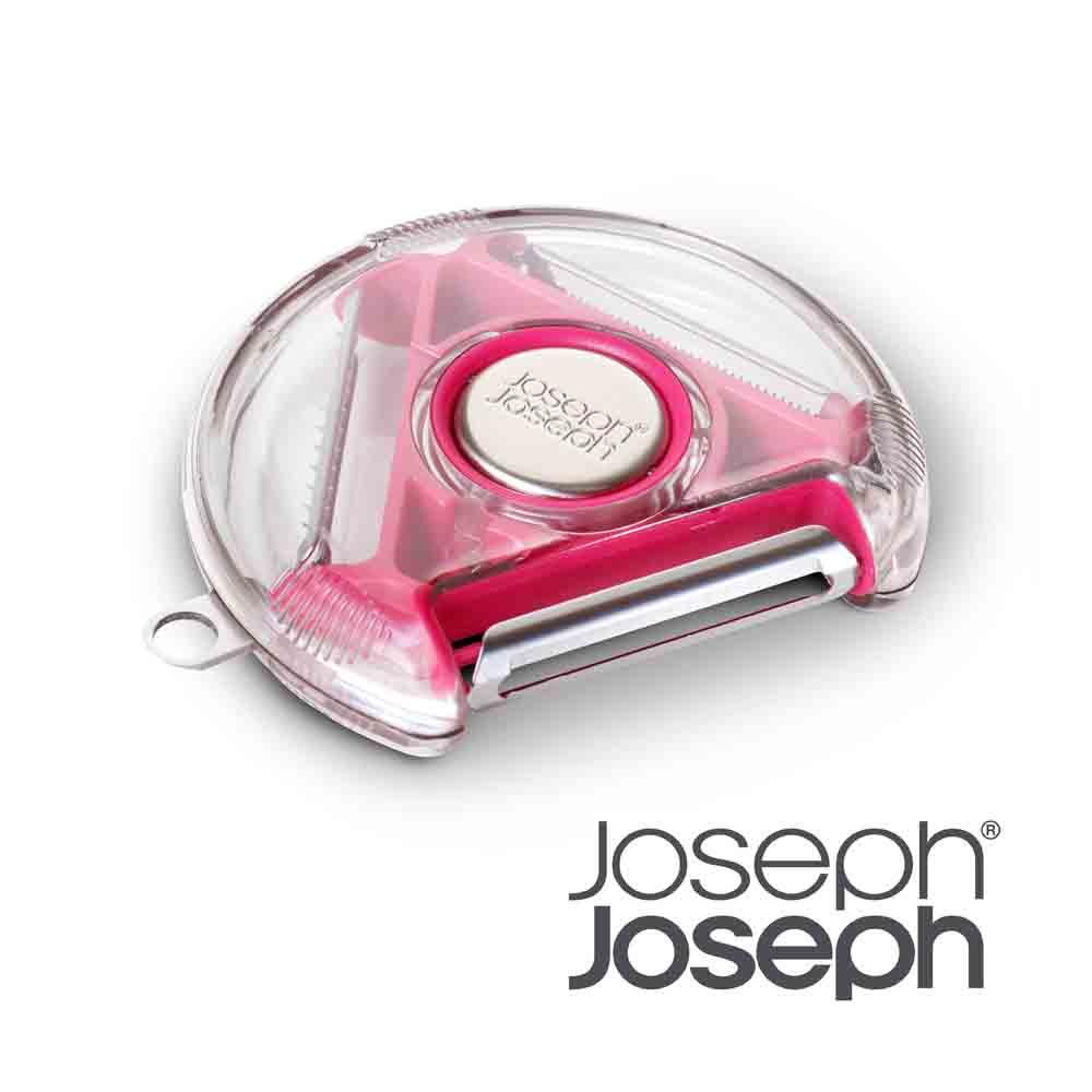 Joseph Joseph|英國創意餐廚 3 in 1旋轉削皮器(粉)