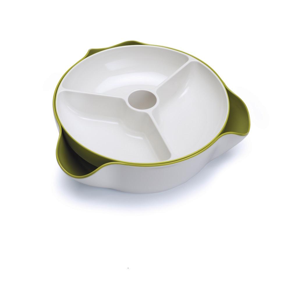 Joseph Joseph|英國創意餐廚 好方便雙層點心碗(綠白)