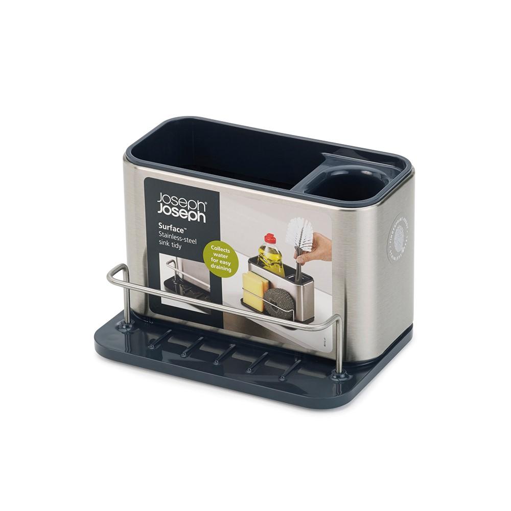 Joseph Joseph|英國創意餐廚 不鏽鋼水槽瀝水收納架