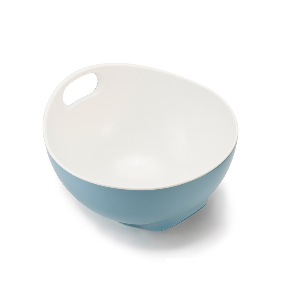 Joseph Joseph|英國創意餐廚  好上手可斜立攪拌盆(藍)