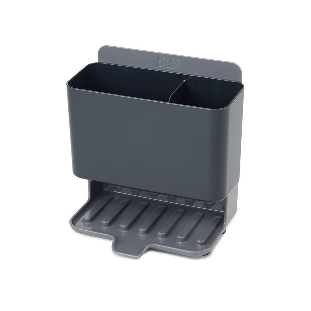 Joseph Joseph|英國創意餐廚 雙格水槽可排水收納架(灰)