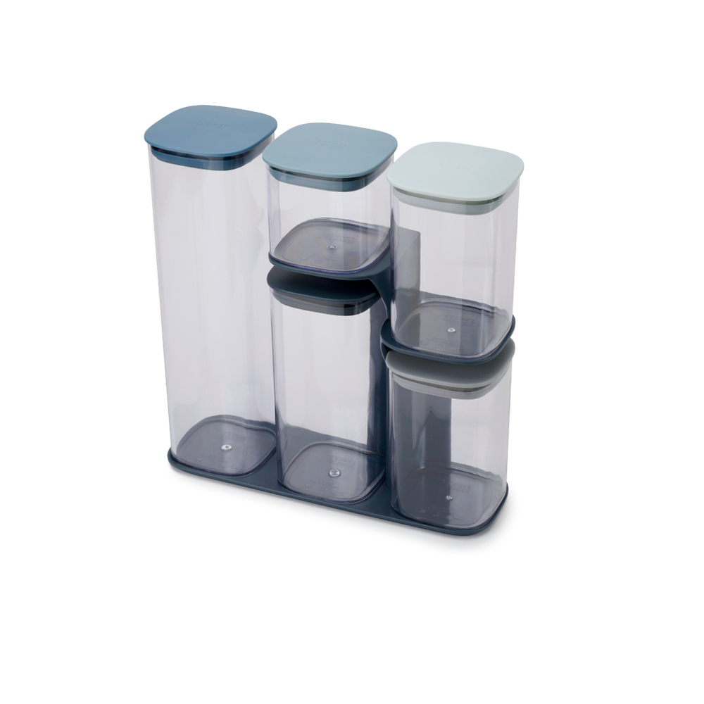 Joseph Joseph|英國創意餐廚 疊疊樂收納罐(五件組) 天空藍