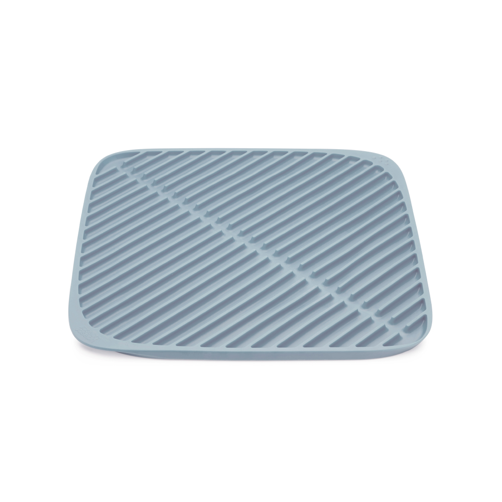 Joseph Joseph|英國創意餐廚   可摺疊瀝水軟墊(小灰藍)