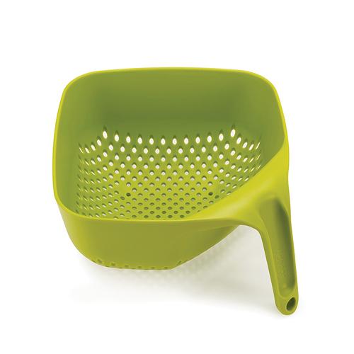 Joseph Joseph 英國創意餐廚 好好握方形可堆疊濾籃(綠)