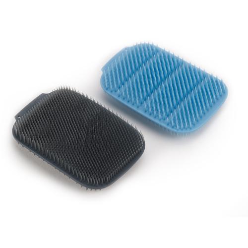 Joseph Joseph 英國創意餐廚 淨科技不沾鍋清潔刷兩件組 (藍/灰)