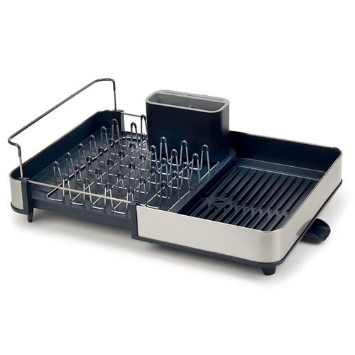 Joseph Joseph 英國創意餐廚 不銹鋼可延伸杯碗盤瀝水組 (灰)