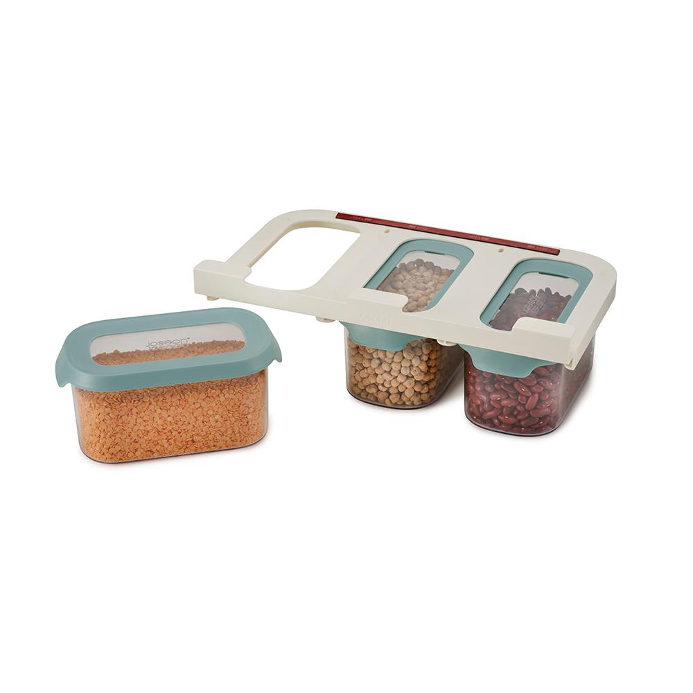 Joseph Joseph|英國創意餐廚 廚櫃層板懸掛儲存罐三件組(900ml/個)