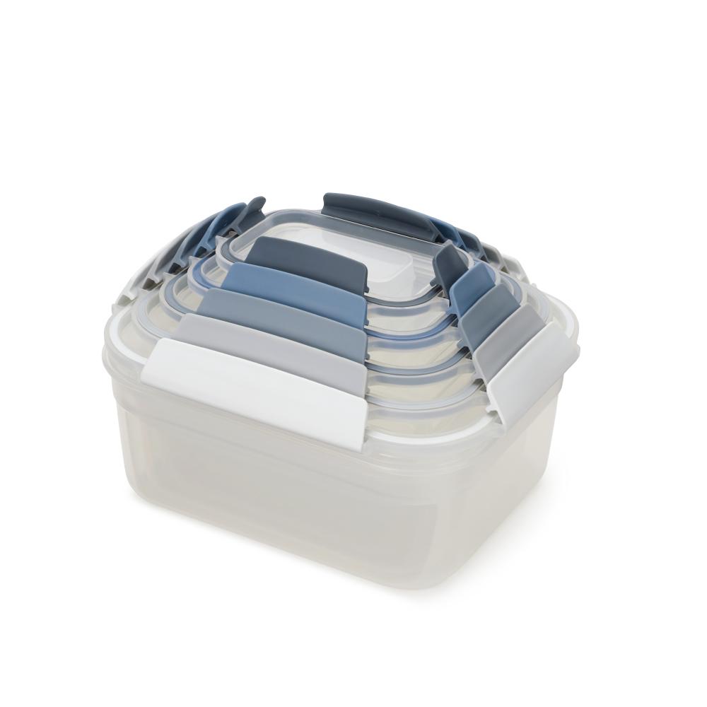 Joseph Joseph 英國創意餐廚 密封收納盒五件組(天空藍)