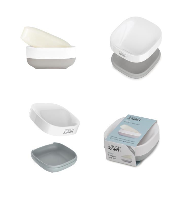 Joseph Joseph|英國創意餐廚 衛浴系好輕便手皂盒(灰)