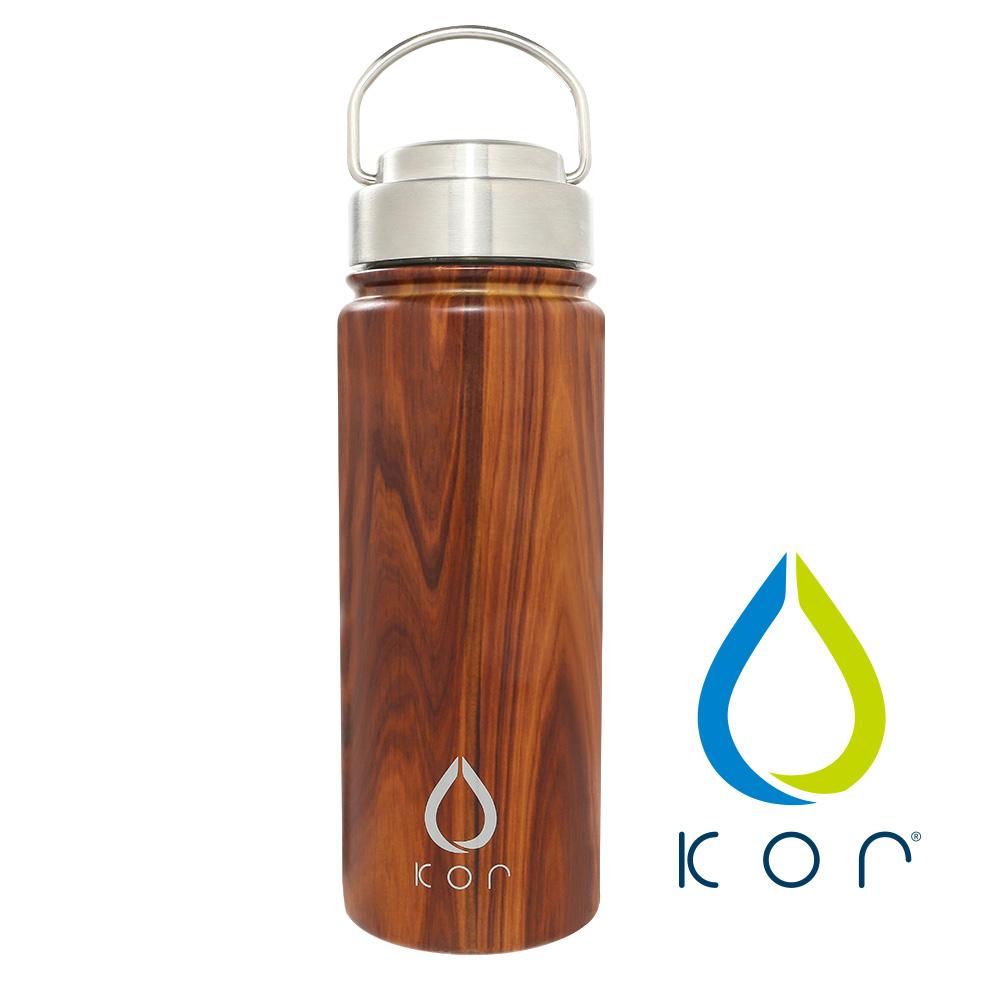 美國KORwater|ROK304不鏽鋼隨身保冷保溫瓶-橡木紋/532ml