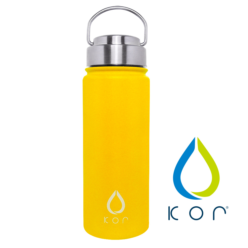 美國KORwater|ROK304不鏽鋼隨身保冷保溫瓶-搖滾黃/532ml