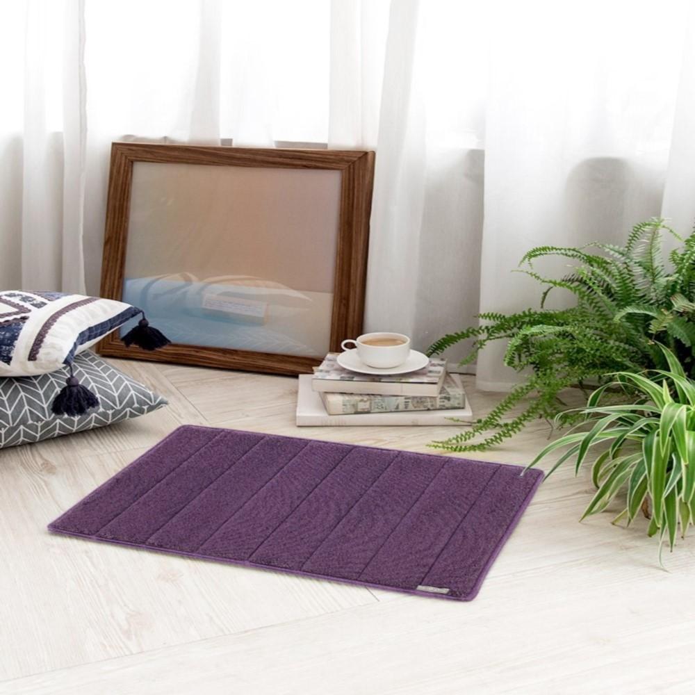Microdry|舒適記憶綿浴墊-紫羅蘭S