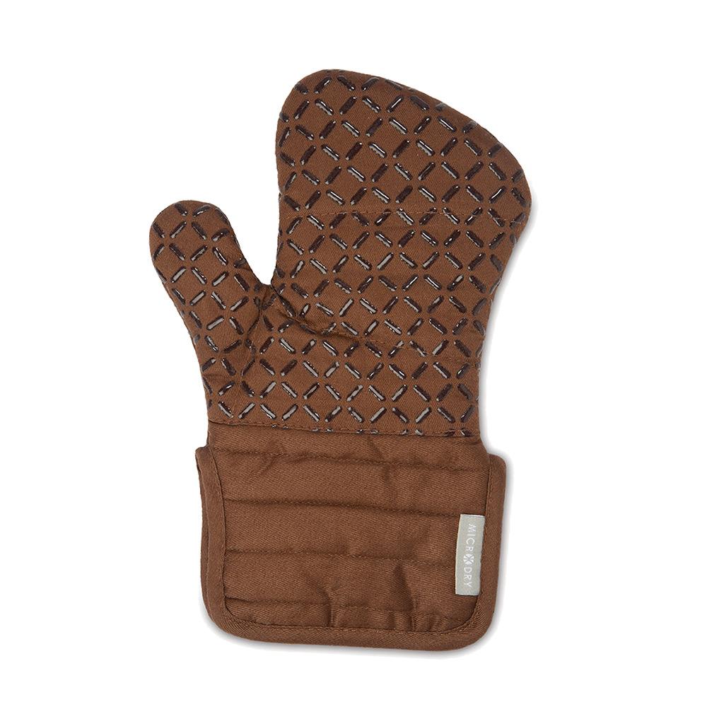 Microdry|舒適防滑隔熱手套S-巧克力