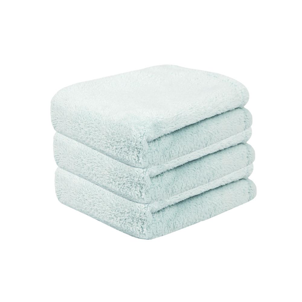 Microdry|舒適快乾方巾-天際藍3入組