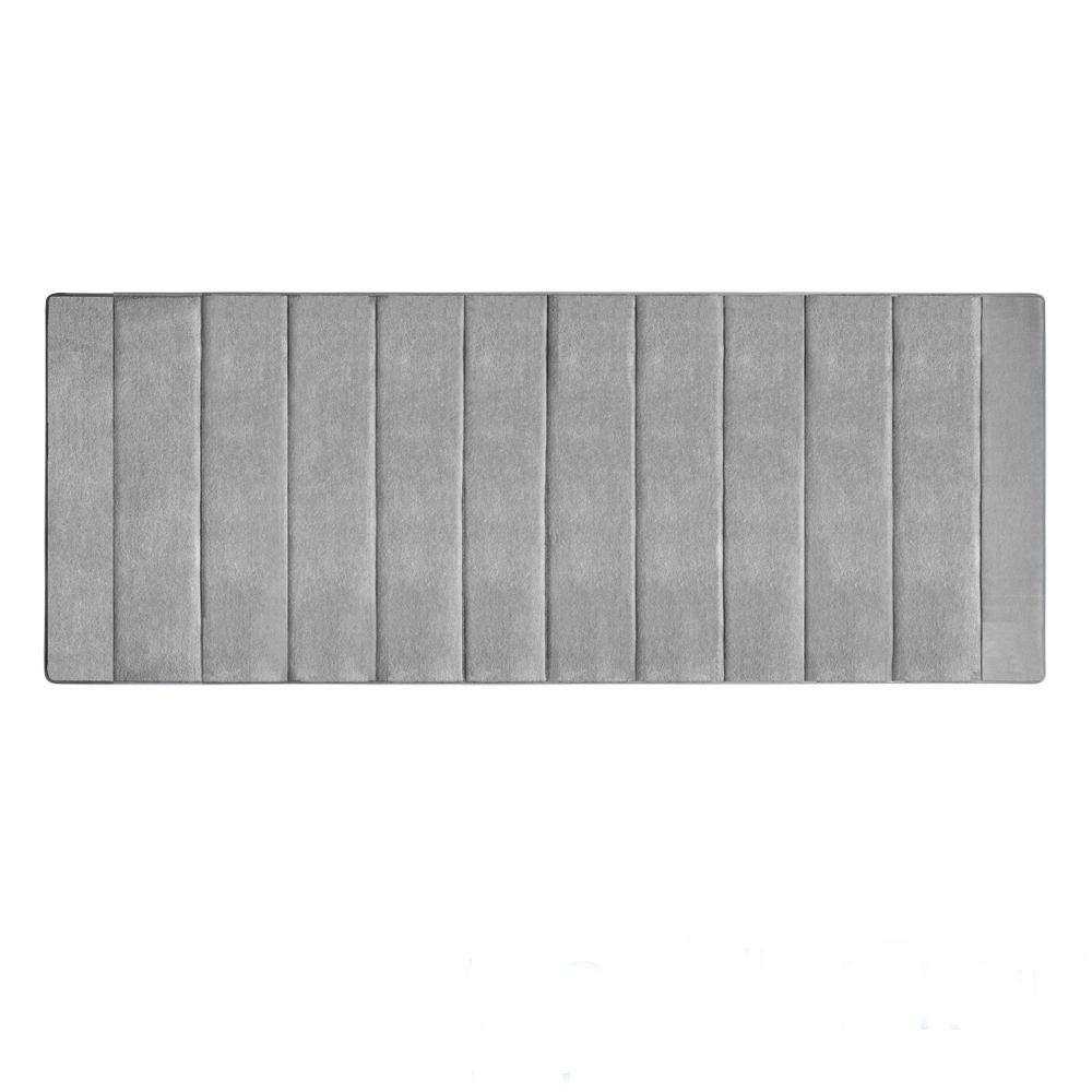 Microdry 舒適記憶綿浴墊-活碳灰/加長型(61x147cm)