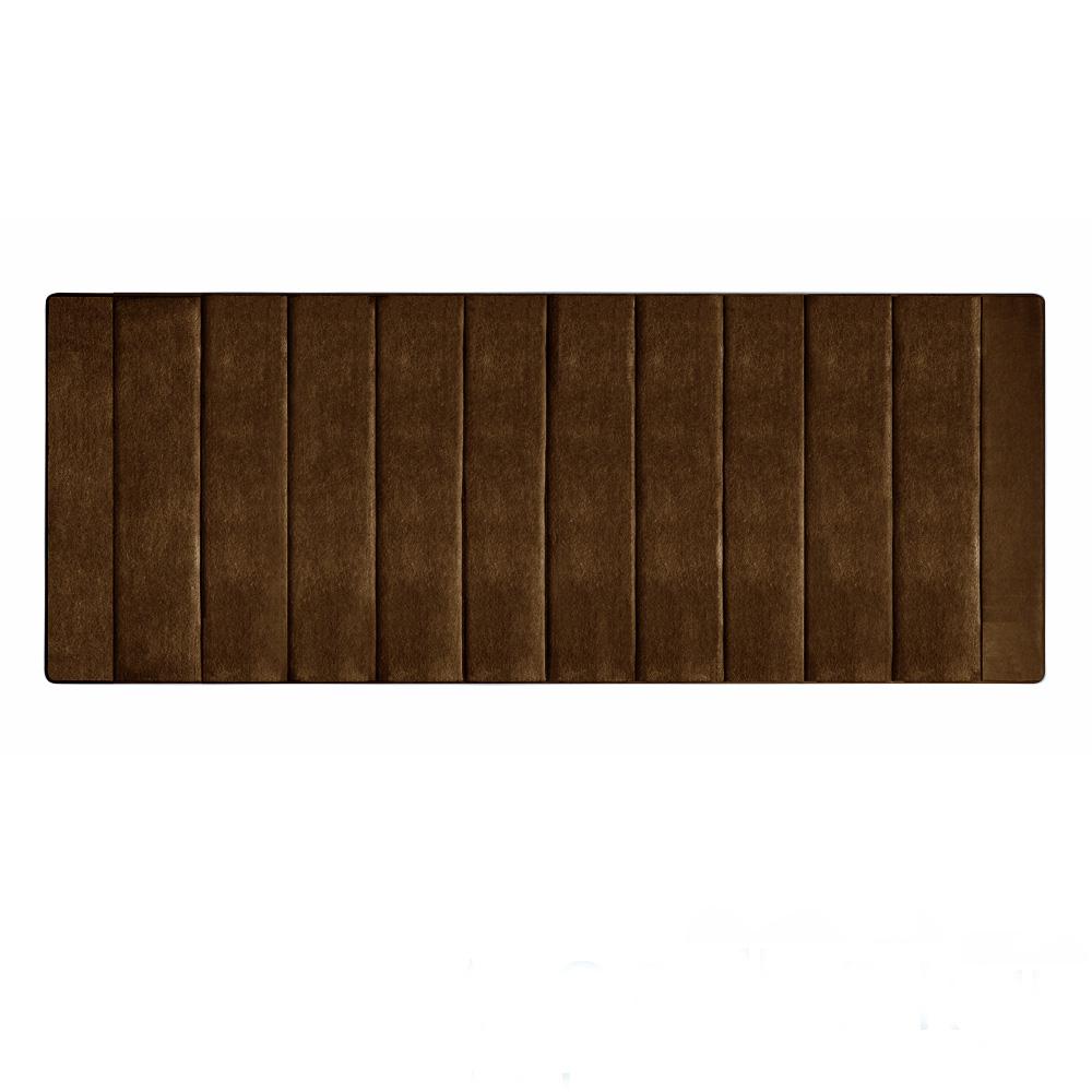 Microdry 舒適記憶綿浴墊-巧克力/加長型(61x147cm)