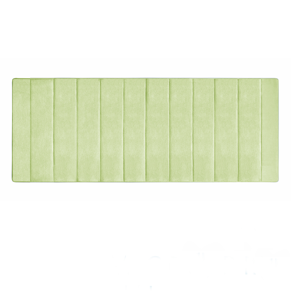 Microdry 舒適記憶綿浴墊-香草綠/加長型(61x147cm)
